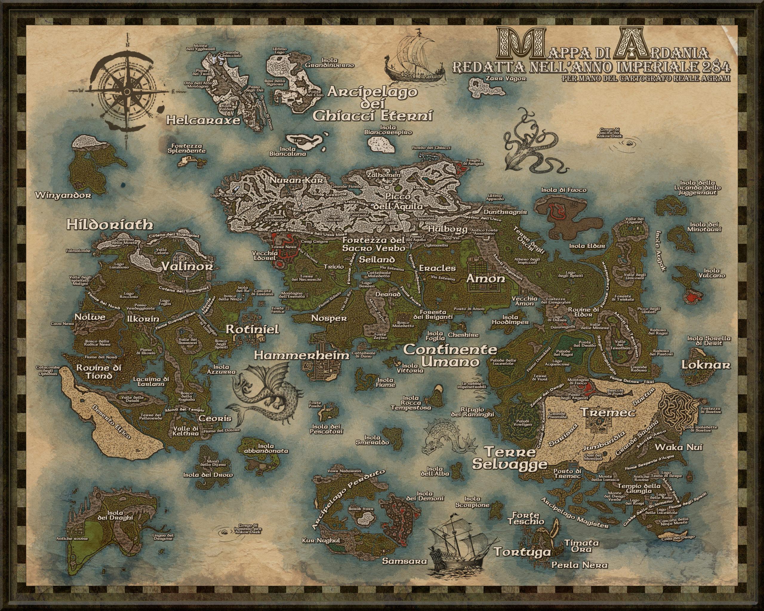Mappa del mondo di Ardania